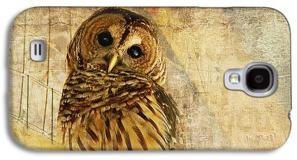 Eye Galaxy S4 Cases - Barred Owl Galaxy S4 Case by Lois Bryan