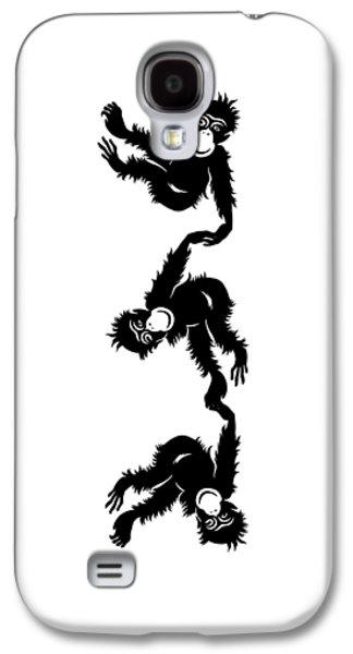 Barrel Galaxy S4 Cases - Barrel Full of Monkeys T-shirt Galaxy S4 Case by Edward Fielding