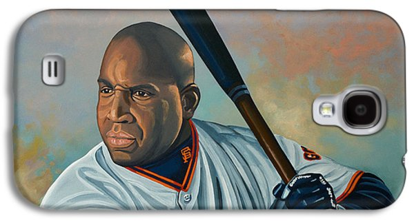 Baseball Glove Paintings Galaxy S4 Cases - Barry Bonds Galaxy S4 Case by Paul Meijering