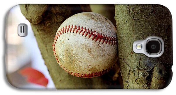 Sports Pyrography Galaxy S4 Cases - Baseball Galaxy S4 Case by Inho Kang