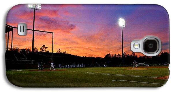 Sports Pyrography Galaxy S4 Cases - Baseball sunset Galaxy S4 Case by Joseph Johns