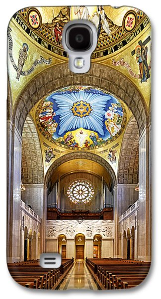 Religious Galaxy S4 Cases - Basilica of the National Shrine of the Immaculate Conception - Interior Galaxy S4 Case by Brendan Reals