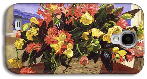 Basket Of Flowers Galaxy S4 Case by David Lloyd Glover