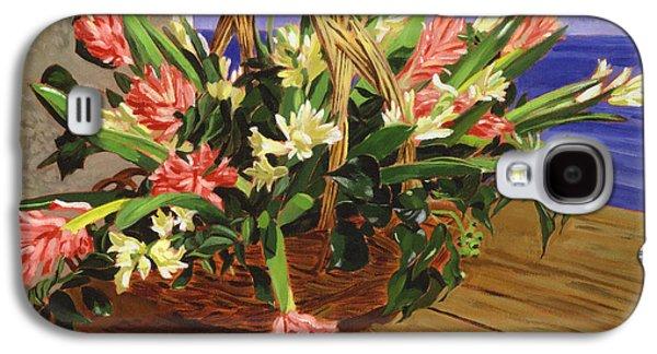 Basket Of Hyacinths Galaxy S4 Case by David Lloyd Glover