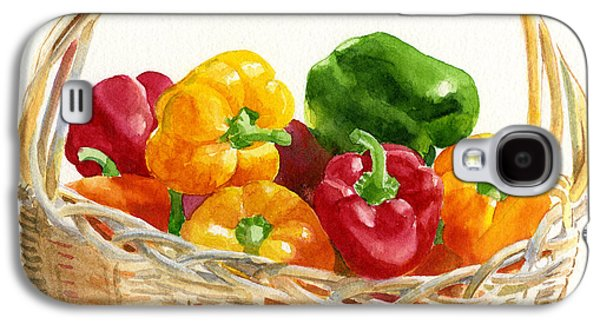 Basket Of Peppers Square Design Galaxy S4 Case by Sharon Freeman
