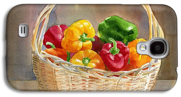 Basket Of Yellow Green And Red Peppers Galaxy S4 Case by Sharon Freeman