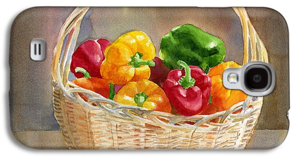 Basket Galaxy S4 Cases - Basket of Yellow Green and Red Peppers Galaxy S4 Case by Sharon Freeman