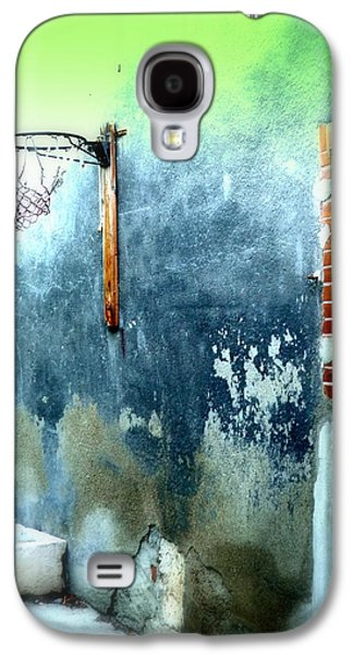 Basketball Abstract Galaxy S4 Cases - Basketball Court Galaxy S4 Case by Funkpix Photo Hunter