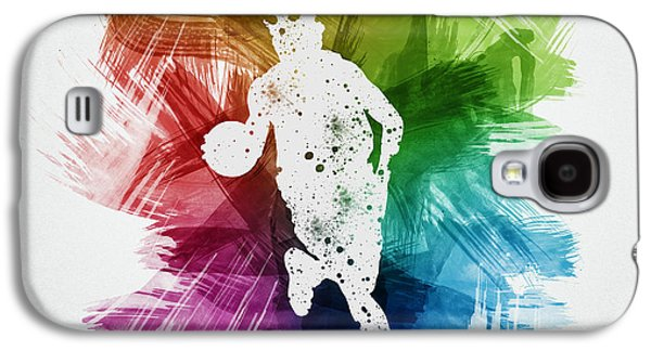 Street Drawings Galaxy S4 Cases - Basketball Player Art 02 Galaxy S4 Case by Aged Pixel