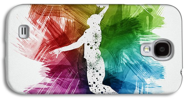 Basketball Galaxy S4 Cases - Basketball Player Art 03 Galaxy S4 Case by Aged Pixel