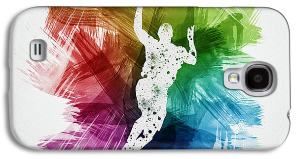 Basketball Galaxy S4 Cases - Basketball Player Art 05 Galaxy S4 Case by Aged Pixel