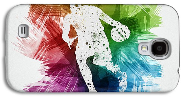 Basketball Galaxy S4 Cases - Basketball Player Art 06 Galaxy S4 Case by Aged Pixel