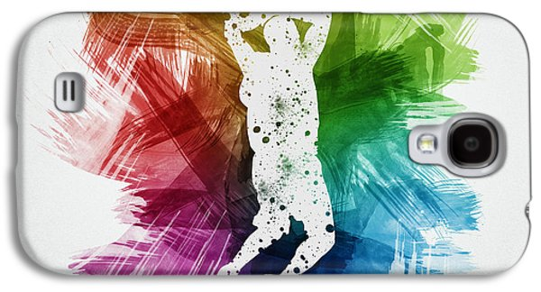Basketball Galaxy S4 Cases - Basketball Player Art 07 Galaxy S4 Case by Aged Pixel