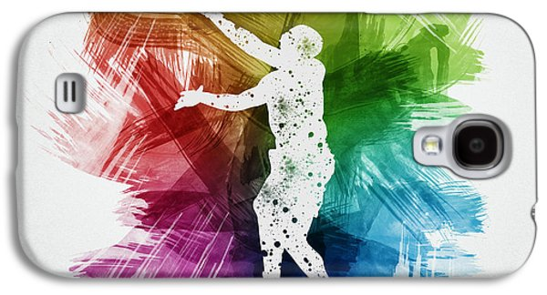 Basketball Galaxy S4 Cases - Basketball Player Art 23 Galaxy S4 Case by Aged Pixel