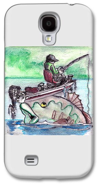 Pole Drawings Galaxy S4 Cases - Bass Boat Galaxy S4 Case by Ray Hofstedt