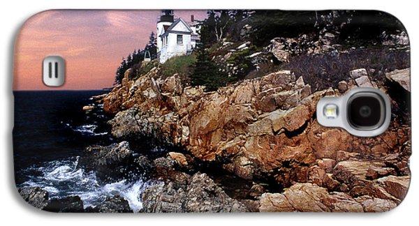 Maine Lighthouses Galaxy S4 Cases - Bass Harbor Head Lighthouse In Maine Galaxy S4 Case by Skip Willits