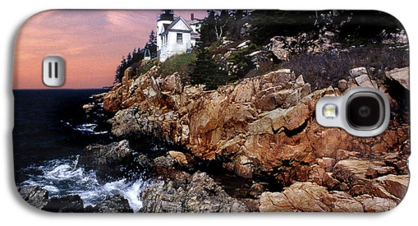 Coastal Maine Galaxy S4 Cases - Bass Harbor Head Lighthouse In Maine Galaxy S4 Case by Skip Willits