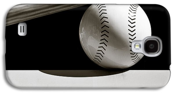 Sports Photographs Galaxy S4 Cases - Bat and Ball Galaxy S4 Case by Dave Bowman