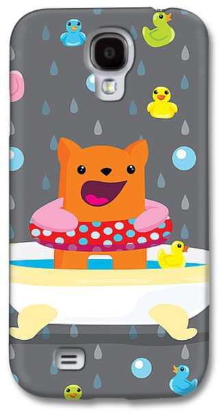 Times Galaxy S4 Cases - Bath time  Galaxy S4 Case by Seedys