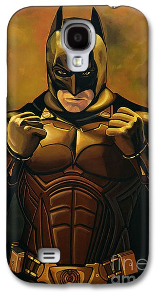 Christian work Paintings Galaxy S4 Cases - Batman The Dark Knight  Galaxy S4 Case by Paul Meijering
