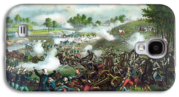 American History Galaxy S4 Cases - Battle Of Bull Run Galaxy S4 Case by War Is Hell Store