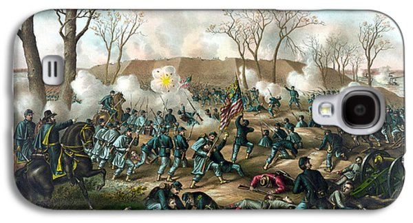 American History Galaxy S4 Cases - Battle of Fort Donelson Galaxy S4 Case by War Is Hell Store