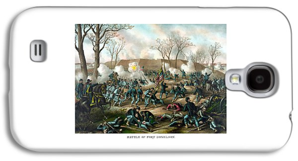 North Drawings Galaxy S4 Cases - Battle of Fort Donelson Galaxy S4 Case by War Is Hell Store