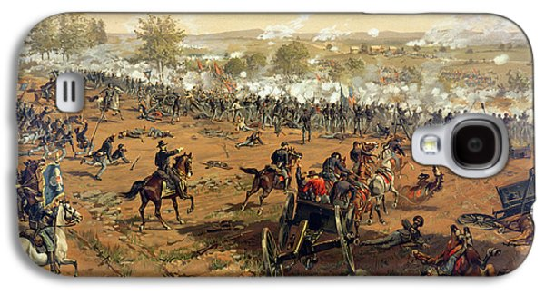 Explosion Galaxy S4 Cases - Battle of Gettysburg Galaxy S4 Case by Thure de Thulstrup
