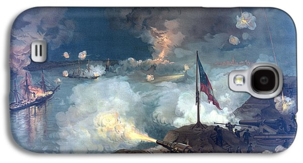 United States Paintings Galaxy S4 Cases - Battle of Port Hudson Galaxy S4 Case by War Is Hell Store