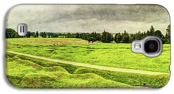 Battle Of The Somme Trench Frontline At Beaumont-hamel - Vintage Version Galaxy S4 Case by Weston Westmoreland