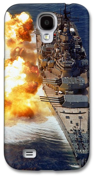 Battleship Uss Iowa Firing Its Mark 7 Galaxy S4 Case by Stocktrek Images