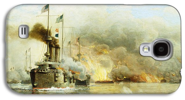 Stars And Stripes Paintings Galaxy S4 Cases - Battleships at War Galaxy S4 Case by James Gale Tyler