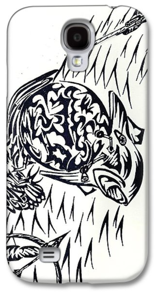 Abstract Digital Drawings Galaxy S4 Cases - BattleTerra Galaxy S4 Case by Ashley Teeter