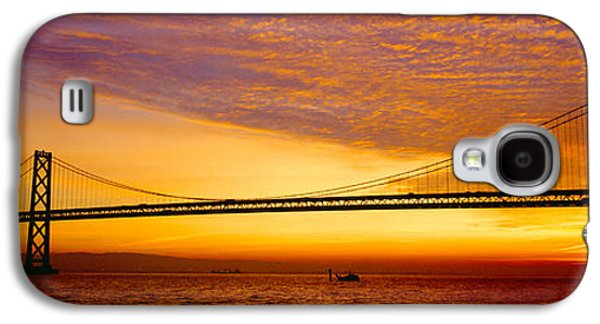 Technological Photographs Galaxy S4 Cases - Bay Bridge At Sunrise, San Francisco Galaxy S4 Case by Panoramic Images