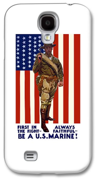 American Flag Mixed Media Galaxy S4 Cases - Be A US Marine Galaxy S4 Case by War Is Hell Store