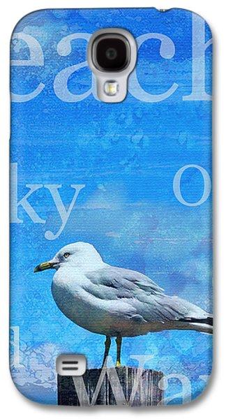 Subtle Colors Galaxy S4 Cases - Beach Art Seagull By Sharon Cummings Galaxy S4 Case by Sharon Cummings