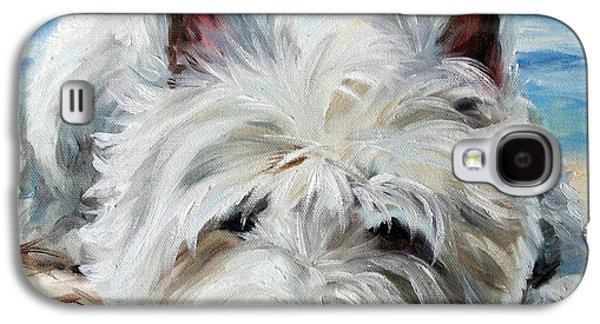 Sleeping Dog Galaxy S4 Cases - Beach Bum Galaxy S4 Case by Mary Sparrow