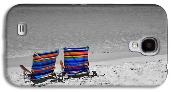 Chair Galaxy S4 Cases - Beach Chairs 2  Galaxy S4 Case by Perry Webster
