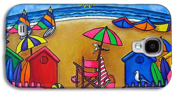 Beach Chair Galaxy S4 Cases - Beach Colours Galaxy S4 Case by Lisa  Lorenz