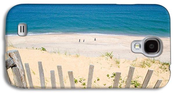 beach fence and ocean Cape Cod Galaxy S4 Case by Matt Suess