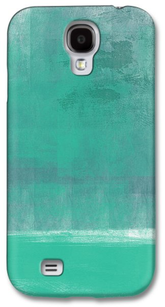 Abstract Landscape Galaxy S4 Cases - Beach Glass- Abstract Art Galaxy S4 Case by Linda Woods