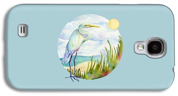 Beach Heron Galaxy S4 Case by Amy Kirkpatrick