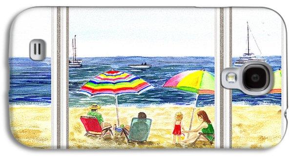 Beach House Window Galaxy S4 Case by Irina Sztukowski