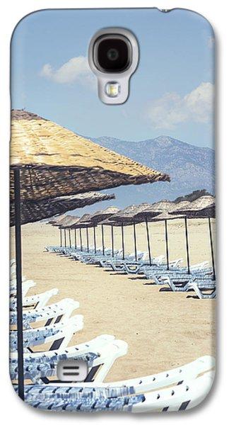 Beach Chair Galaxy S4 Cases - Beach Loungers Galaxy S4 Case by Joana Kruse