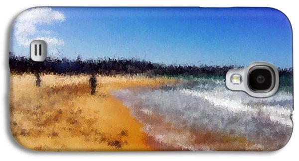 Midday Paintings Galaxy S4 Cases - Beach of heaven  Galaxy S4 Case by Chiheb Eddine Fatnassi
