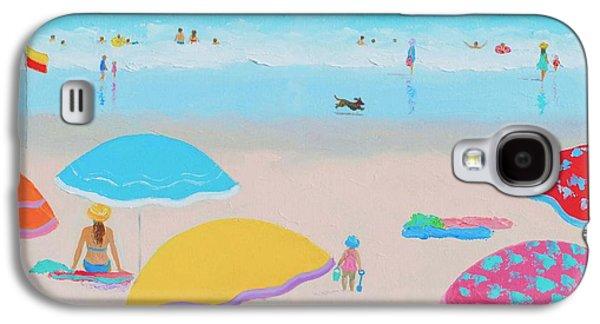 Ocean Art. Beach Decor Galaxy S4 Cases - Beach Painting - Ah Summer Days Galaxy S4 Case by Jan Matson