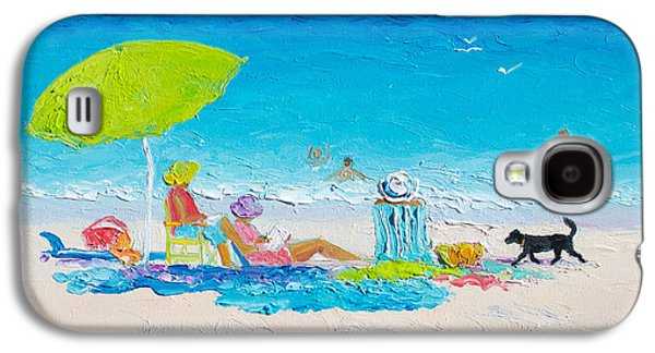 Beach Painting - Lazy Beach Day Galaxy S4 Case by Jan Matson