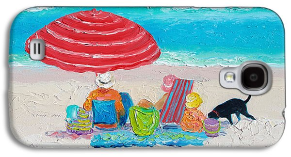 Beach Painting - One Summer Galaxy S4 Case by Jan Matson