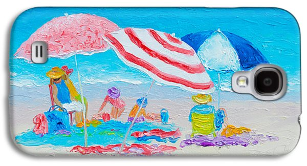 Beach Painting - Summer Beach Vacation Galaxy S4 Case by Jan Matson