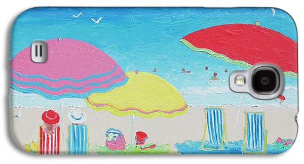 Beach Painting Summer Days Galaxy S4 Case by Jan Matson